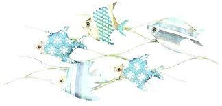fish wall art metal painted