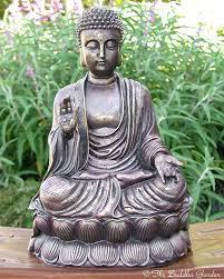 buddha garden statue statue with antique finish the garden large resin buddha garden statue