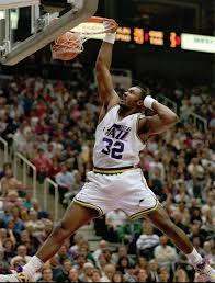 Karl Malone Of The Utah Jazz Karl Malone Jazz Basketball