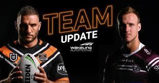 NRL Team Update: <b>Round 1</b> - Wests <b>Tigers</b>