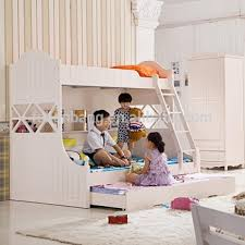 kids loft bed with slide. Latest Wooden Kids Bunk Bed With Slide MDF Kid Furniture Beds Loft