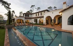 austin spanish tile roof pool mediterranean with archway outdoor