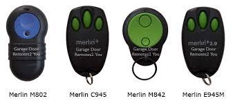 garage door remotesMerlin Garage Door Remote Controls
