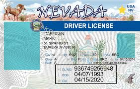 Id Fake Nevada Scannable Buy Identification Template