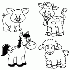 Small Picture Farm Animals To Color Animal Coloring Page 20 Pages Farm Animals