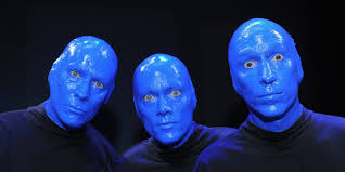 what the blue man group looks like without face paint blue man group with no makeup