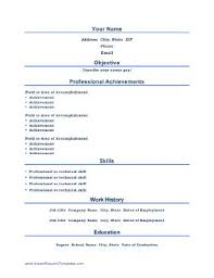 Achievements On A Resumes Titles Are Centered And Professional Achievements Take Center Stage