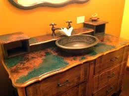 copper bathroom vanity hammered countertops sheets for