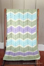 Chevron Crochet Blanket Pattern Gorgeous Easy Chevron Blanket Crochet Pattern Daisy Cottage Designs