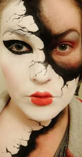 epic makeup ideas faded mask cool creepy mysterious pretty face