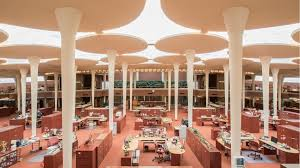 Open Office Layout Design Amazing Frank Lloyd Wright Designed Johnson Wax HQ As A Forest Open To The Sky