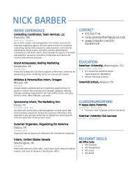 Barber Resume Template Barber Resume Template Barber Resume Resume Custom Barber Resume