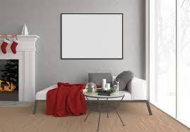 living room art background horizontal frame premium photo