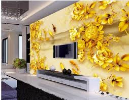home decoration rose gold color eagle carp classic painting wallpaper window mural wallpaper 3d wall murals