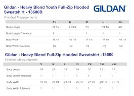 Gildan T Shirts Size Chart For Youth T Shirt Sizes Youth Chart