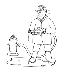 Firefighter Coloring Page | paginone.biz