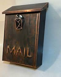 custom wall mount mailbox. Interesting Mount Custom Made Wall Mount Patina Copper Mailbox For O