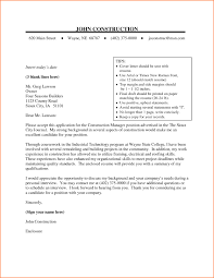Construction Management Cover Letter Examples Sample Cover Letter