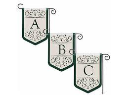 garden flags. Monogram Garden Flags