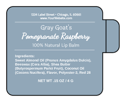 Ingredients Label Template Lip Balm Label Templates Download Lip Balm Label Designs