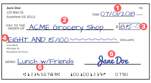 see how to write a check step by step explanation