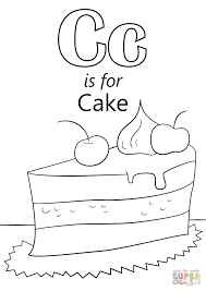 Small Picture Letter C Is For Cake Coloring Page And Coloring Pages For The