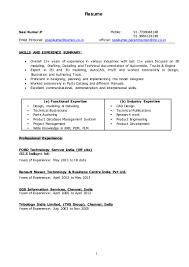 Barback Resume Skills Resume For Study