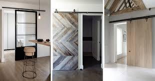 interior sliding barn door. 10 Examples Of Barn Doors In Contemporary Kitchens Bedrooms And Modern Sliding Door Interior