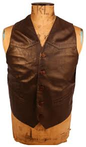 mens smart casual waistcoat in brown leather 3084 p jpg