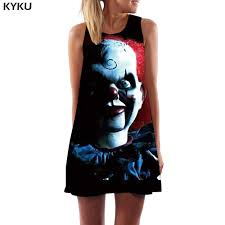 KYKU Punisher Dress Women Skull Sexy Black Beach Punk Rock ...
