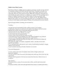 Middle School Math Teacher Resume Math Teacher Resume Examples Free Tgt Format High School Objective 11