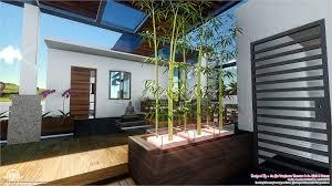 Contemporary Style Home Landscape Design In  Sqfeet Kerala - Home landscape design