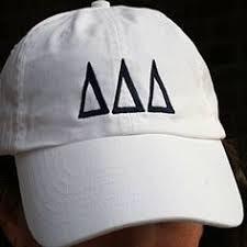 delta delta delta sorority hat white with greek letters 26 00 great greek gift