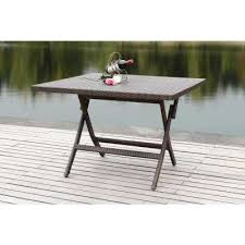 Rustic wood patio furniture Homemade Brown Rattan Square Folding Patio Dining Table Home Depot Wood Rustic Folding Patio Tables Patio Furniture The Home