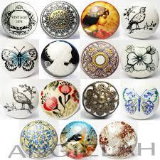 Kitchen Door Handles And More Vintage Ceramic Door Knobs Mix Match Shabby Chic Handles Boho