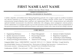 Mining Engineer Sample Resume 5 Sales Lewesmr Suiteblounge Com