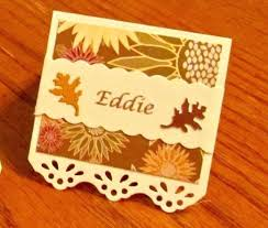 Fall Place Cards Fall Place Cards Image 0 Diy Themed Card Holders For
