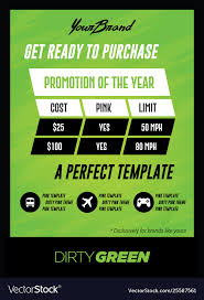 Bold Green Pricing Chart Flyer Or Poster Template