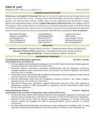 Sample Resume Military To Civilian Resume Military To Civilian