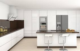 ultra modern white kitchen with brown back splash kitchens ideas n39 kitchens