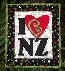quilts, quilt patterns, patchwork fabric, quilting fabric ... & I Love NZ mini quilt pattern. Adamdwight.com