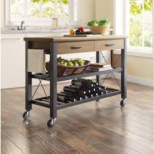 Rustic Kitchen Island Cart Kitchen Attractive Rustic Kitchen Cart Island With Vintage Metal
