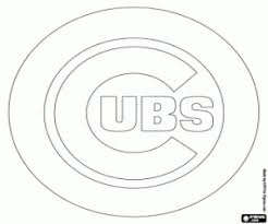 Small Picture Emblem of Chicago Cubs coloring page printable game