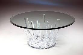 acrylic and glass cocktail table modern round starburst coffee dimensions bevel kitchen charming
