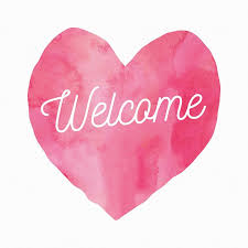pink welcome welcome post heart free image on pixabay