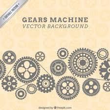 Gear Pattern Magnificent Gears Machine Background In Pattern Style Vector Free Download