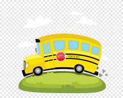 Illustration de bus scolaire, bus, voiture de dessin animé, grue,  Personnage de dessin animé, accident de voiture png | PNGEgg