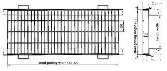 Grating Size Chart Project Design Of Steel Grating Trench Cover