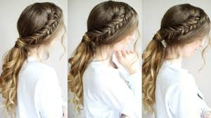 Quick Ponytail Hairstyles Ponytail Hairstyle Tutorial Braided Ponytail Hairstyles