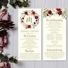 Wedding Program Template Download Wedding Program Thank You